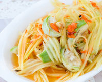 Thai green papaya salad Stock Photos