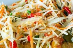 Thai Green Papaya Salad. Som Tam Thai - Thai Green Papaya Salad Royalty Free Stock Photo