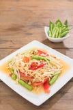 Thai Green Papaya Salad, Som Tam Stock Photos