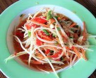 Thai Green papaya salad Royalty Free Stock Image