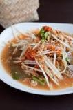 Thai Green Papaya Salad or Som tum. Stock Image