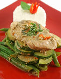 Thai Green Poached Chicken 4 Royalty Free Stock Images