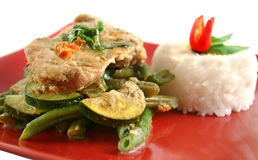 Thai Green Poached Chicken Royalty Free Stock Photo