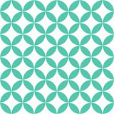 Thai green star vintage pattern Stock Illustration