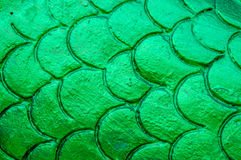 Thai green textured. Thai style wall background at temple Stock Photos