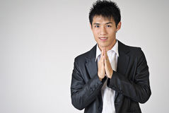 Thai greeting gesture Royalty Free Stock Photo