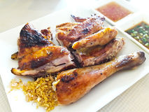 Thai grilled chicken Royalty Free Stock Photo