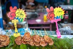 Thai Grilled Pork at Chatuchak market, Bangkok Royalty Free Stock Photos