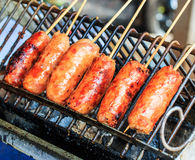 Thai Grilled Sausage Stock Photos
