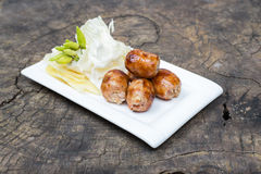 Thai grilled sausage Royalty Free Stock Photos
