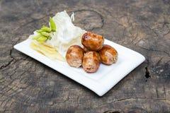 Thai grilled sausage Royalty Free Stock Photos