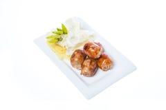 Thai grilled sausage Stock Photos