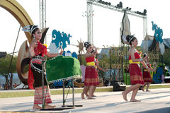 Thai group performing Thai music and Thai dancing. Stock Photos