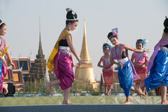 Thai group performing Thai music and Thai dancing. Stock Image