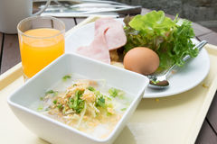 Thai gruel and vegetable salad Stock Photo