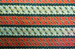 Thai grunge pattern Sarong texture striped Stock Photo