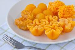 thai guld- sweetmeat Royaltyfria Bilder