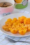 thai guld- sweetmeat Arkivbilder