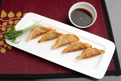 Thai Gyoza Dumplings Stock Photo
