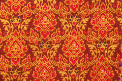 Thai hand-made fabric pattern Stock Photography