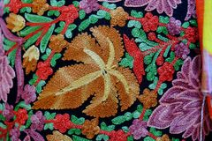 Thai hand-woven fabrics There are many colorful stock images