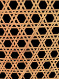 Thai handcraft of bamboo weave pattern. For background Royalty Free Stock Photography