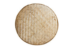 Thai handcraft of bamboo weave pattern for background Stock Images