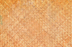 Thai handcraft of bamboo weave. Texture of bamboo weave, Thai handcraft of bamboo weave Royalty Free Stock Photography