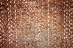 Thai handicraft of bamboo weave pattern Royalty Free Stock Images