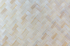 Thai handicraft of bamboo weave pattern. Stock Image