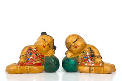 Thai handicraft dolls Royalty Free Stock Images