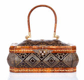 Thai handicraft elegance woman basketry Stock Photo
