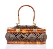 Thai handicraft elegance woman basketry Stock Photos