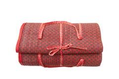 Thai handicraft red mat Stock Photos