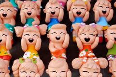 Thai Handmade Funny Dolls. In Thailand Royalty Free Stock Photo