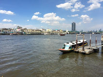 Thai harbour boat riverside Stock Photography