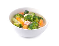 Thai healthy food boiled  broccoli Royalty Free Stock Photography