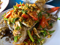 Thai healthy food,Deep friend fish Stock Photo