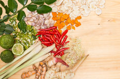 Thai Herb ingredient of Traditional Thai food cuisine Stock Photography