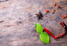 Thai herb ingredients. Of spicy Tom Yum royalty free stock image