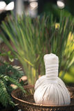 Thai Herbal Ball Hot Compress massage Royalty Free Stock Photography