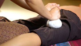 Thai Herbal Ball Massage, Royalty Free Stock Photo