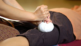 Thai Herbal Ball Massage, Royalty Free Stock Image