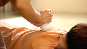 Thai Herbal Ball Massage, Stock Images