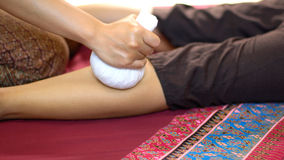 Thai Herbal Ball Massage, Stock Image