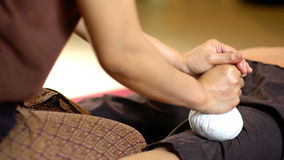 Thai Herbal Ball Massage, Royalty Free Stock Images