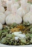 Thai herbal compress ball Stock Photo