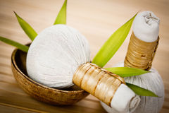 Thai herbal compress pads Royalty Free Stock Photo