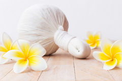 Thai Herbal Compress are unique combination and these medicinal Royalty Free Stock Images