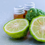 Thai herbal ingredient spas Kaffir lime . Royalty Free Stock Photography